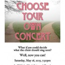 Choose Your Own Concert – May 16, 2015