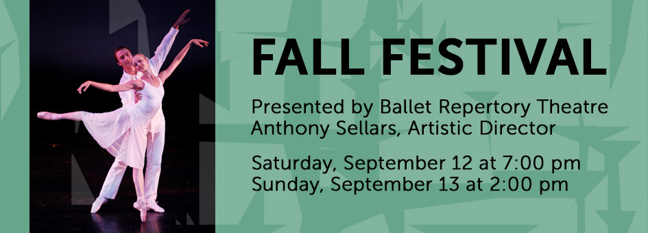 Fall Festival by Ballet Repertory Theatre – September 12 & 13, 2015