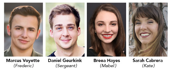 Four GWC actors recognized by the Kennedy Center/American College Theater Festival for The Pirates of Penzance
