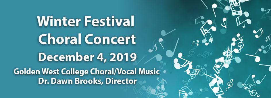 Winter Festival Choral Concert – Dec 4, 2019
