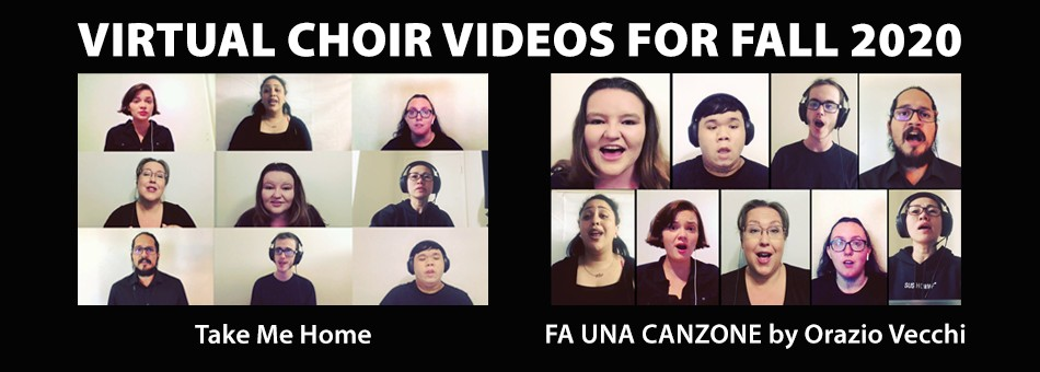 Virtual Choir videos for Fall 2020