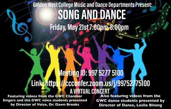 Golden West College Music and Dance Department Present: Song and Dance