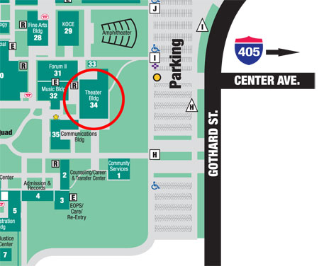 Golden West College Map Directions and Map   Golden West College Performing Arts